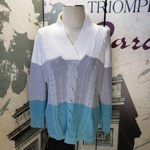 Liz Claiborne Striped Sweater Size XL